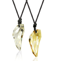 Set of two famous brand jewelry women Lovers female natural Austria Trend Bohemia party yellow Crystal Necklace girlfriend gift
