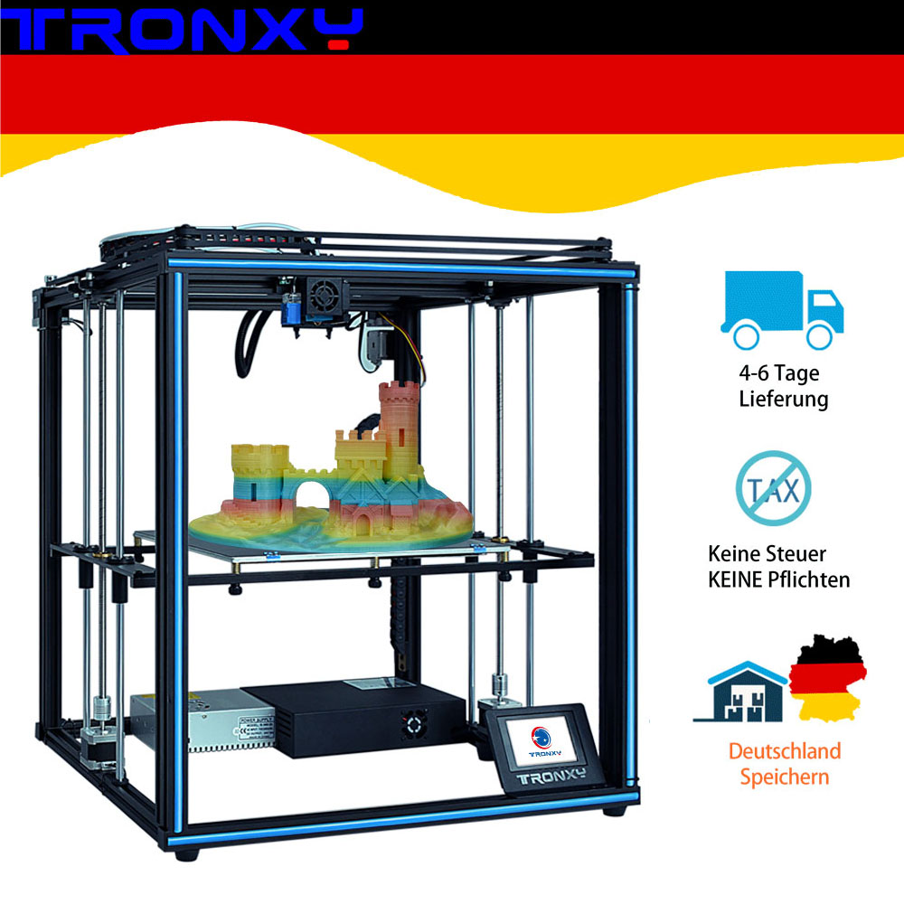 Tronxy 24V upgraded X5SA 3D Printer kit 3.5 inches LCD Touch Screen DIY 0.4mm nozzle high precision Auto leveling 330x330x400mm image
