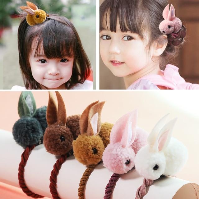 New Cute  Animals Rabbit  Style Hair Bands Felt Three-Dimensional Plush Rabbit Ears Headband For Children Girls Hair Accessories