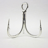 Crazy Fish 1 Bag 5x Strong Saltwater Sea Fishing Treble Hook BKK 6066 5X CB Sea