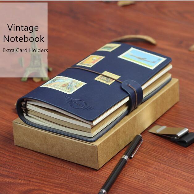 A6 Vintage Journey Spiral Dairy Notebook Leather Sketch Book Travel Notebook Retro Dairy Memo Weekly Planner Birthday Gift