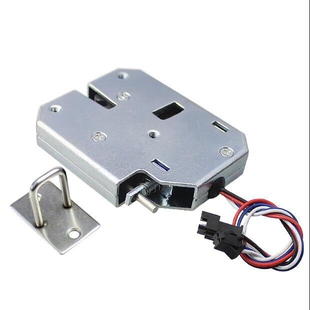 4pcs 12VDC Drawer Lock Furniture Desk Metal Cabinet Locker Bolt Lock Safety Smart Home Door Cupboard Childproof Lock