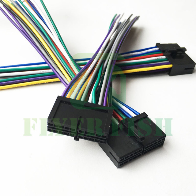 20 PIN Wire Radio Harness Power Plug For DIY JENSEN AWM968 Pyle PLBT72G PLDN76DB PLBT72C Power_640x640 aliexpress com buy 20 pin wire radio harness power plug for diy dual 20 pin wire harness at reclaimingppi.co