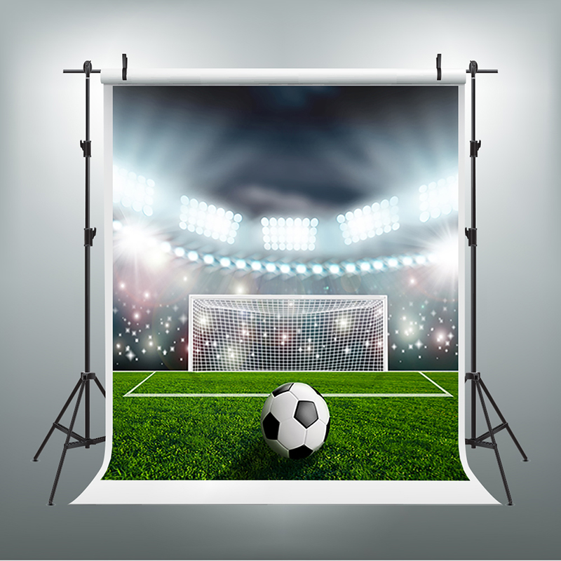 Children Photography Background Sparkling Highlights Foto Background Green Football Field Baby Backdrops for Photographic Studio