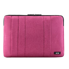 Waterproof shakeproof polyester Deep Color Laptop Sleeve Case For 13.3 Inch Laptop / Notebook Computer / MacBook Pro / Air -Pink