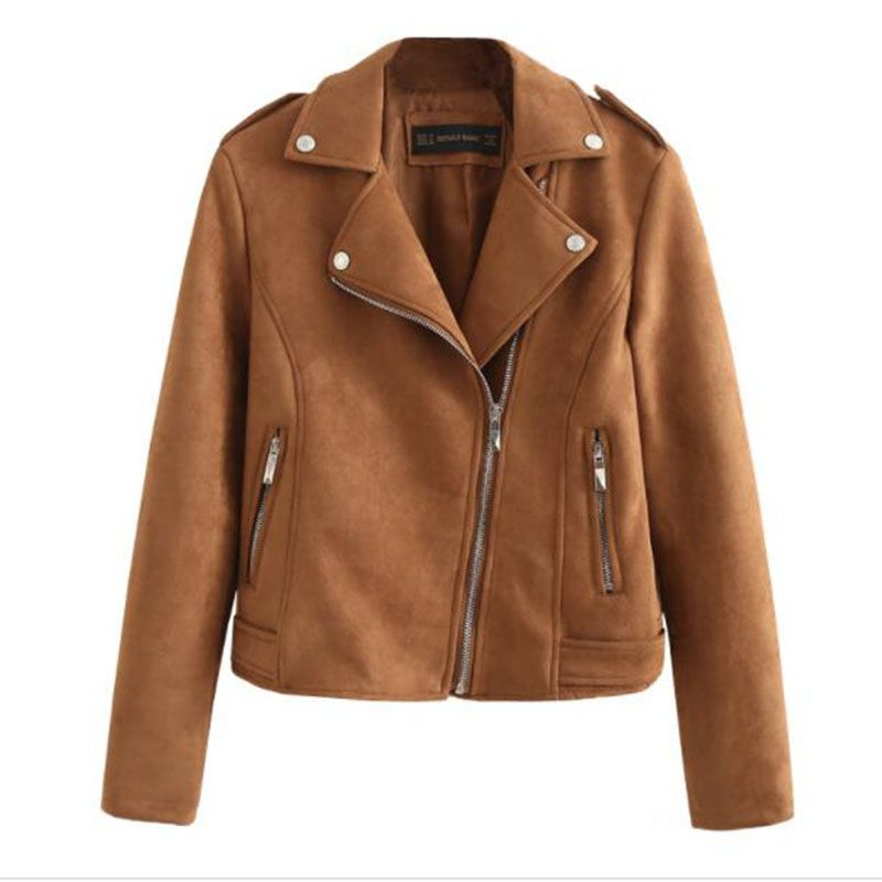 Motorcycle PU   Leather   Short Jacket Women Winter And Autumn New Fashion Coat 6 Color Zipper Outerwear jacket slim deerskin coat