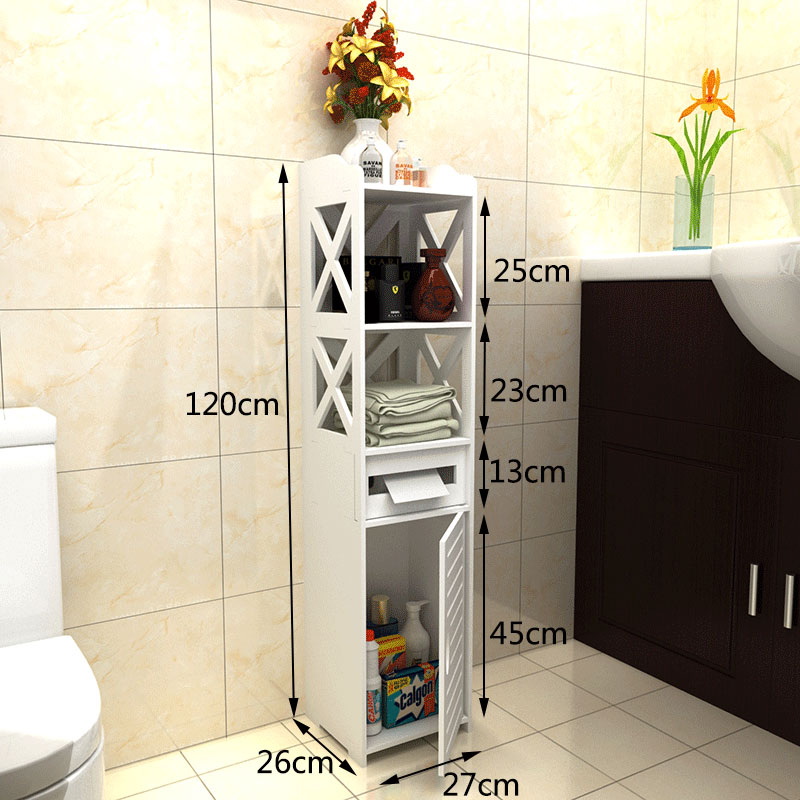 Fashion Bathroom Storage Rack Floor Standing Bathroom Storage Cabinet Washbasin Shower Shelf Corner Cabinet