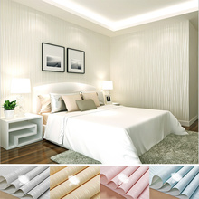 Self-adhesive Nonwoven Flocking Simple Modern Striped Wallpaper for Walls Bedroom Living Room TV Background Wall Paper Rolls