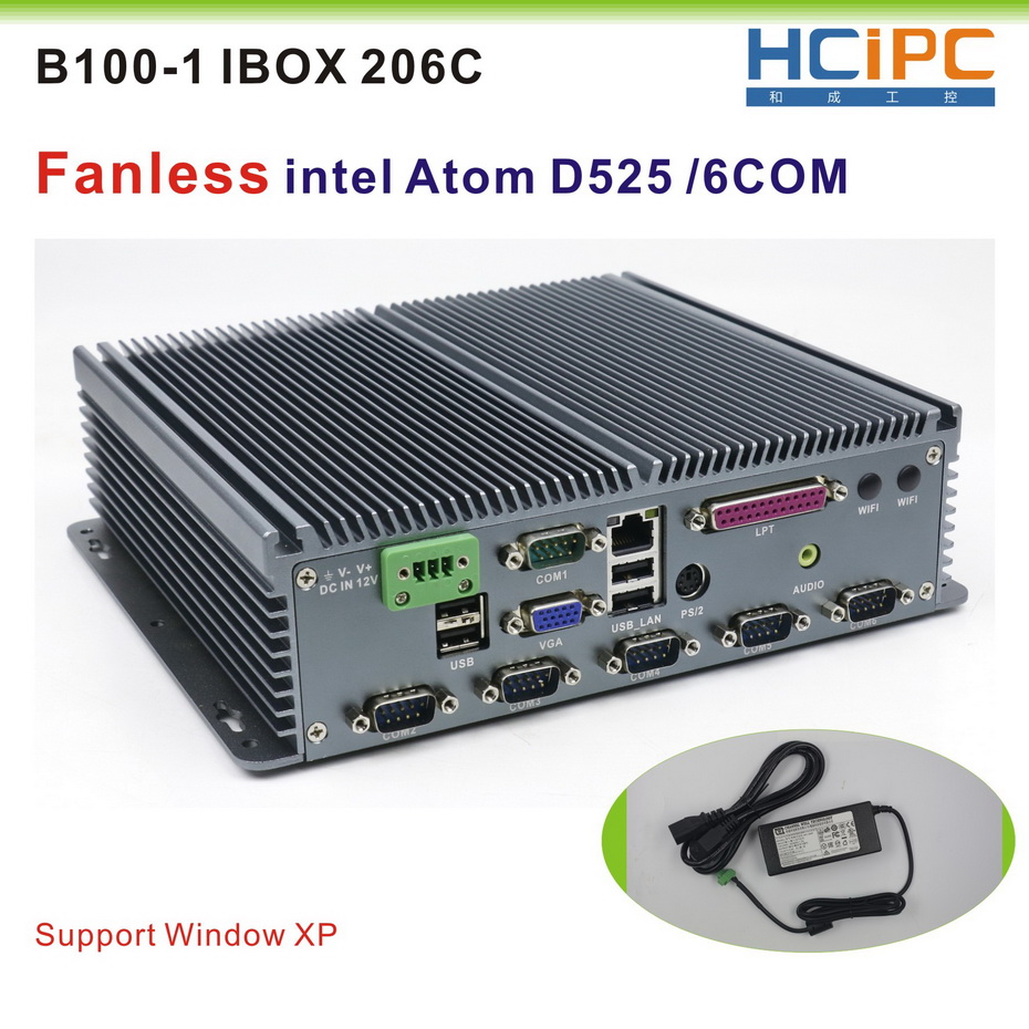 Learned Hcipc B100-1 Ibox 206c(d525) Fanless Industrial Pc, Industrial Computer,mini Box Pc, Atom D525 With 6com R232 The Latest Fashion