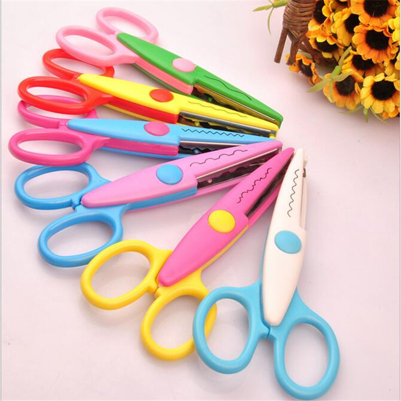 Scissors New Kids Scissors For Diy Photo Album Handmade Laciness Scissors For Photo Album Card Decorative Diy Scissors 6 Patterns