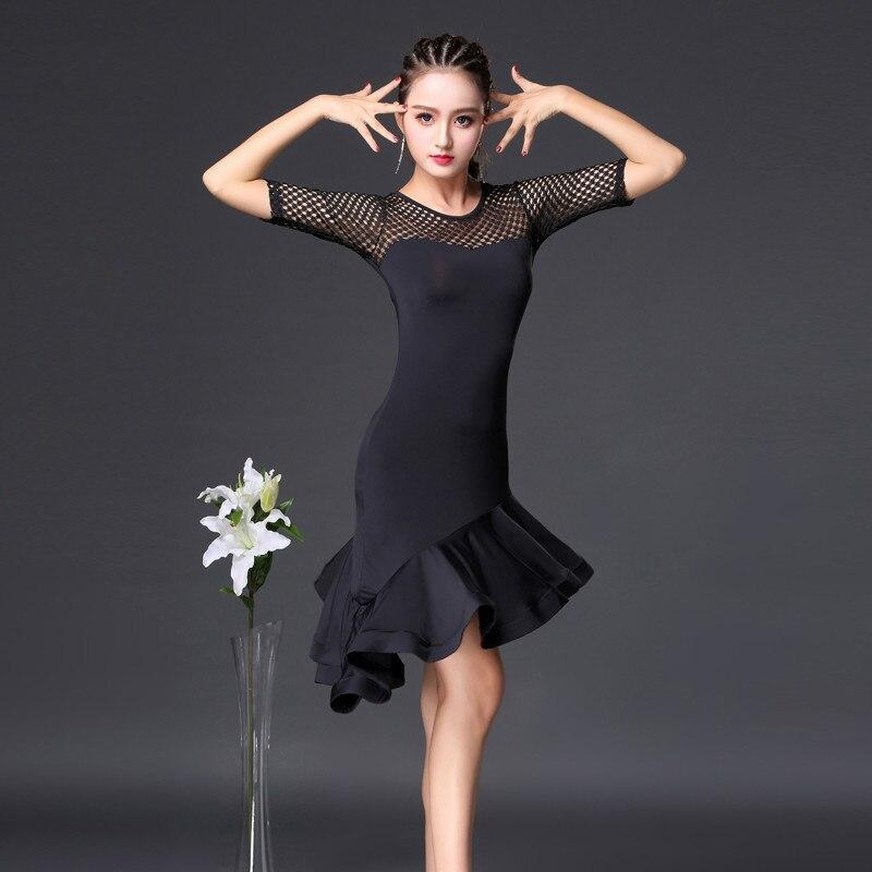2018 black cha cha dance dress tango rumba latin dance dress women latin dance costumes for women