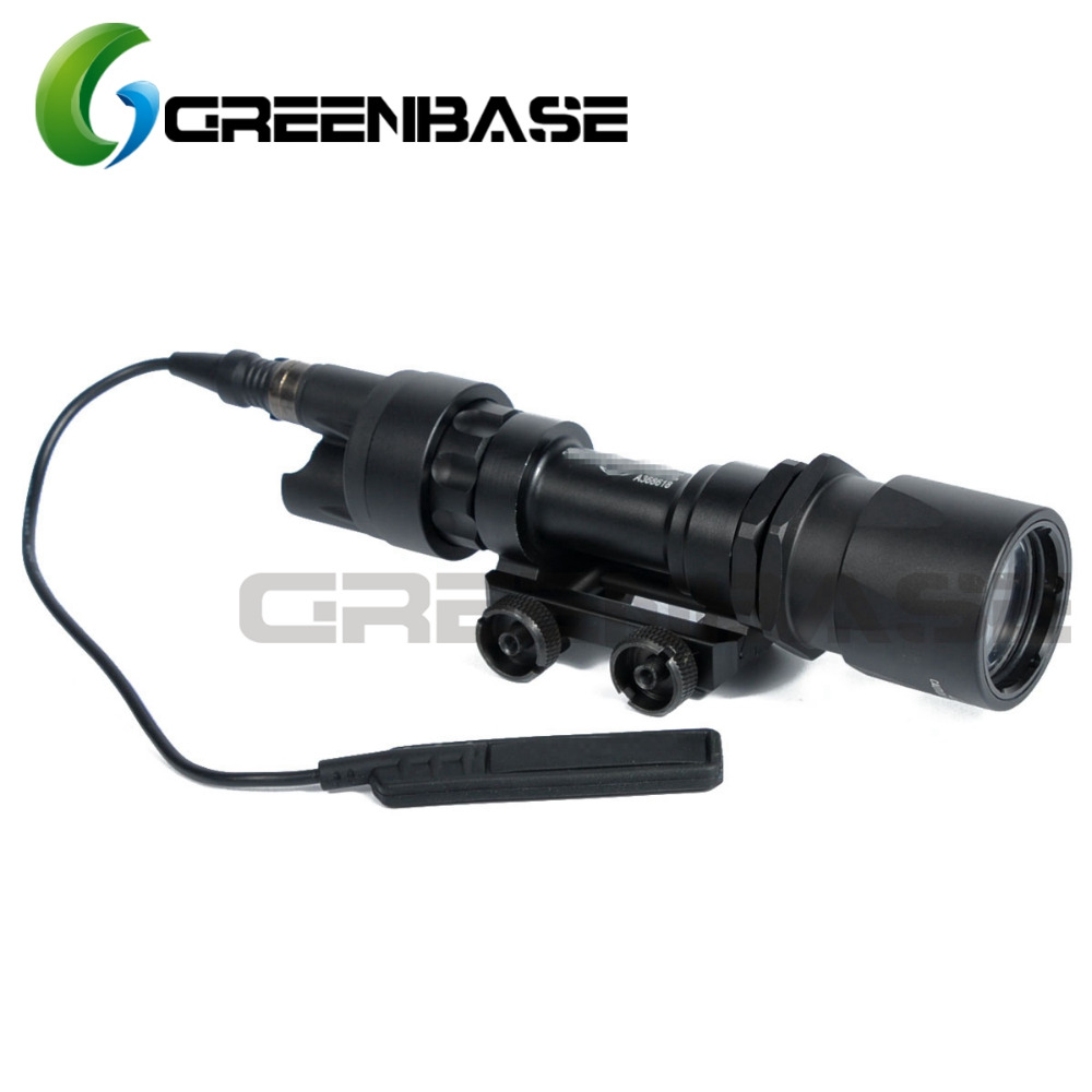 Greenbase Tactical SF M951 Scout Light Weapon Light Constant&Momentary CREE LED Flashlight Super Bright Fit M4 M16 Hunting Rifle ingersoll i01002