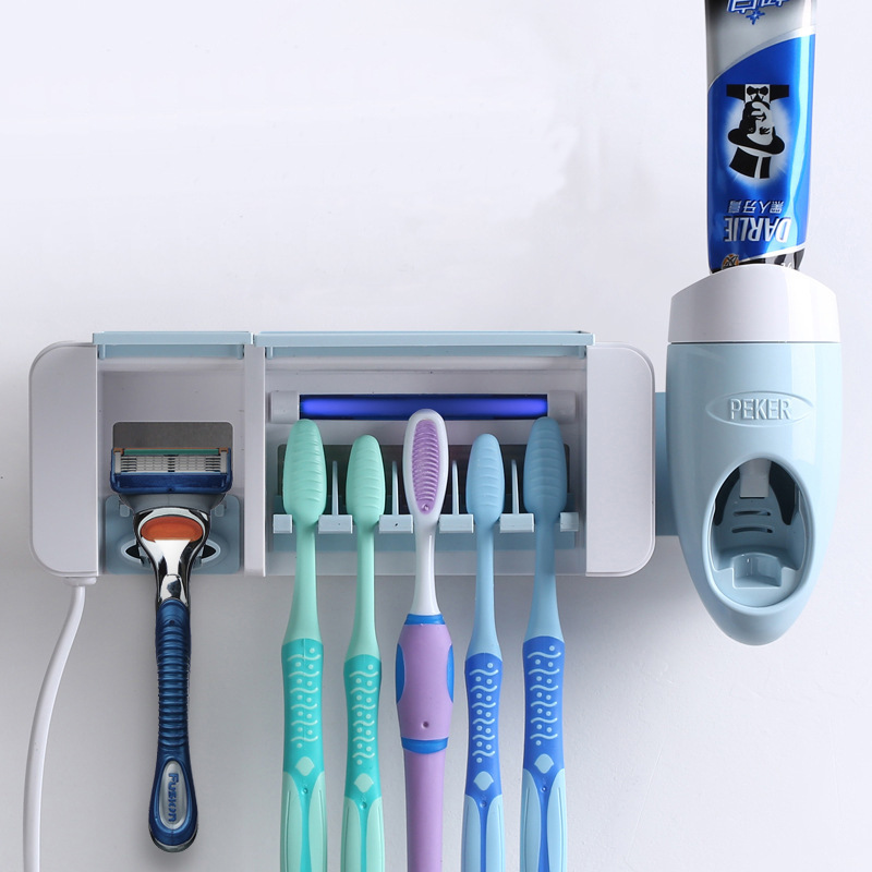 Toothbrush Sterilizer Wall mounted UV Lamp Disinfection Box Suction Cup Toothbrush Holder for tooth brush Living
