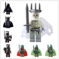 8 шт./компл. Legoed Властелин колец ведьма король мертвых орк Мордора действия минифигурные строительные блоки детские игрушки PG8036
