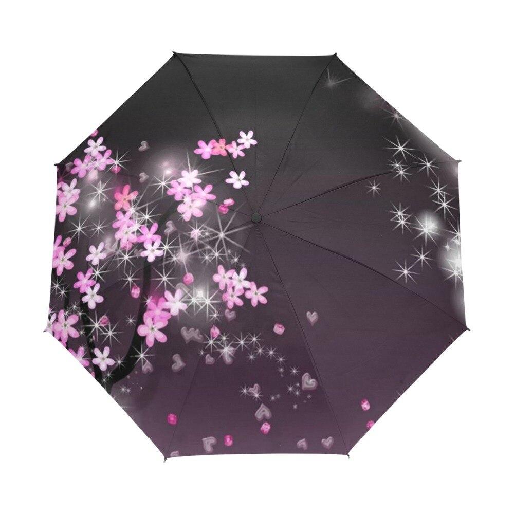 정품 브랜드 3Folding 꽃 우산 비가 여성 자동 품질 방수 방풍 파라과이 소녀 Guarda Chuva 여성