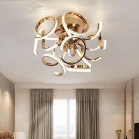 Новый короткий стиль светодиодный потолочный Люстра хром золото plafonnier Светодиодная лампа Современная Гостиная Спальня Освещение диаметр