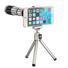 Universal 12X Zoom Phone Camera Lens Telephoto Telescope With Mount Clip Holder Tripod Lens For iPhone For Samsung Smartphones