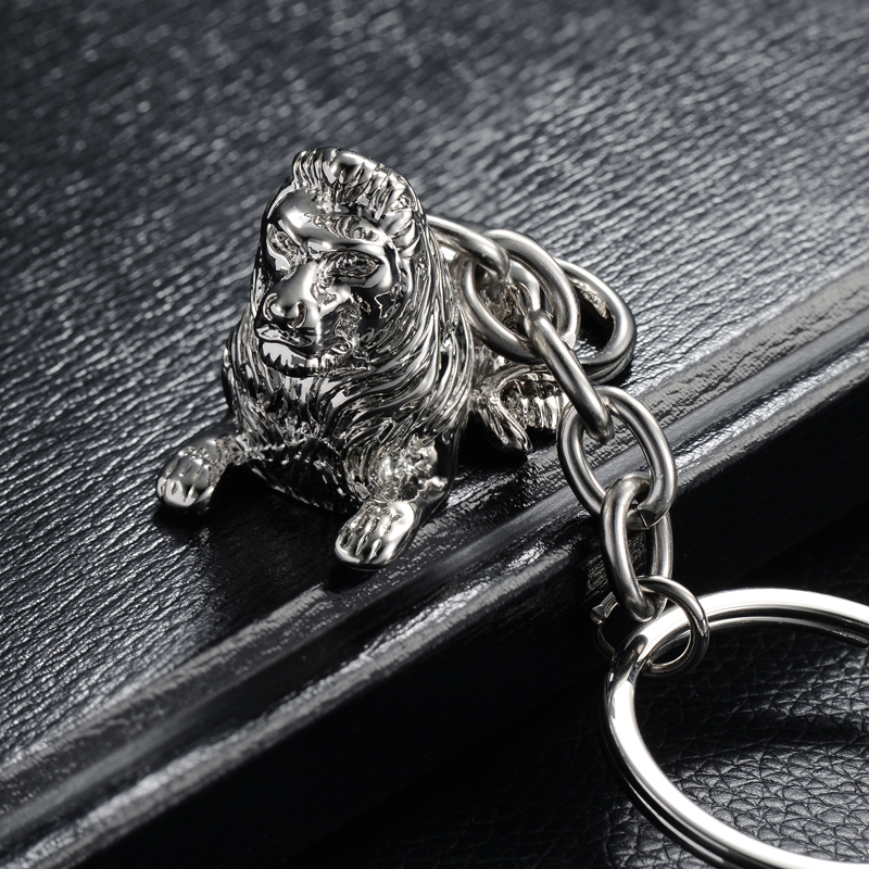 Vikingceltic 316l Stainless Steel Lion Animal Keychain Jewelry & Accessories Jewelry Sets & More