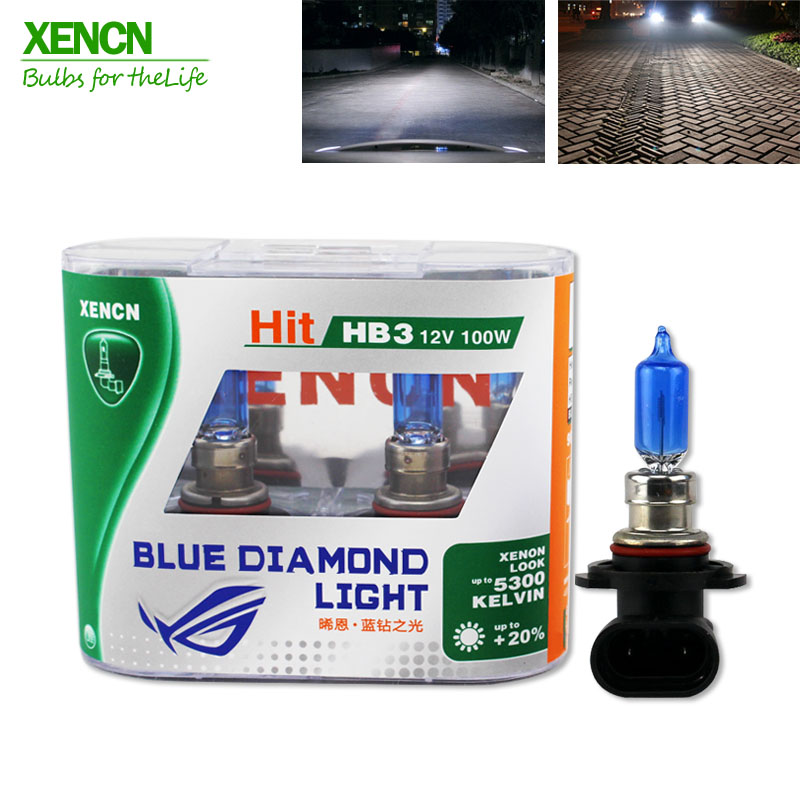 XENCN HB3 9005 12V 100W 5300K Blue Diamond Light Xenon White Look Car Headlight Halogen Lamp for BMW VW Ford Toyota Honda Lada 2 pcs h7 6000k xenon halogen headlight head light lamp bulbs 55w x2 car lights xenon h7 bulb 100w for audi for bmw for toyota