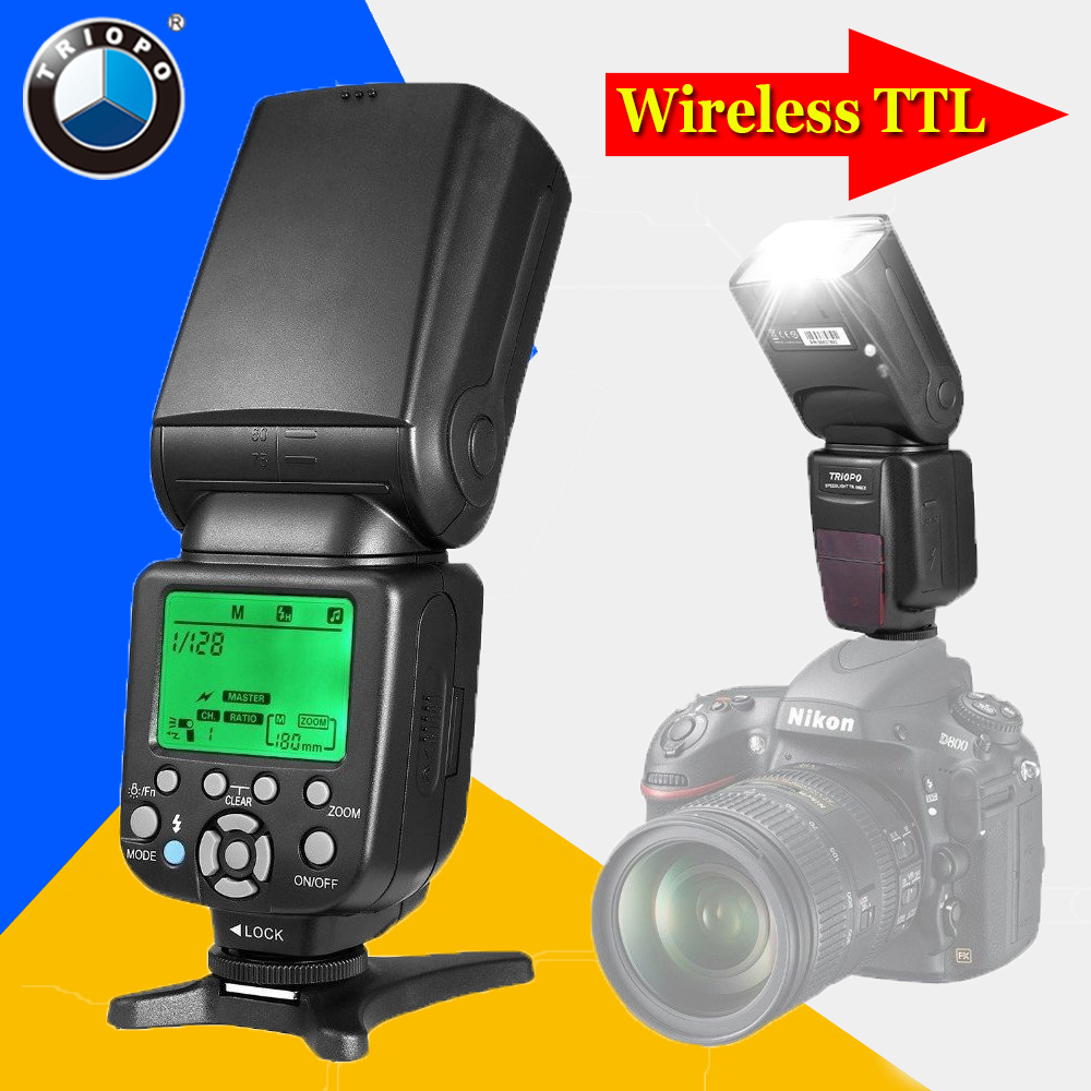 For Nikon D750 D800 D3200 D7100 D3300 D5100 DSLR Camera Triopo TR-586EX Wireless TTL Flash Speedlite as YONGNUO YN565EX YN-568EX yongnuo yn565ex wireless ttl flash speedlite yn 565ex for nikon d7100 d7000 d5200 d5100 d5000 d3100 camera vs triopo tr 586ex