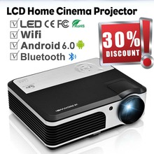 CAIWEI Android WIFI LED Projector Home Cinema Bluetooth Proyector Support 1080P Video Projection Beamer TV PC HDMI Miracast