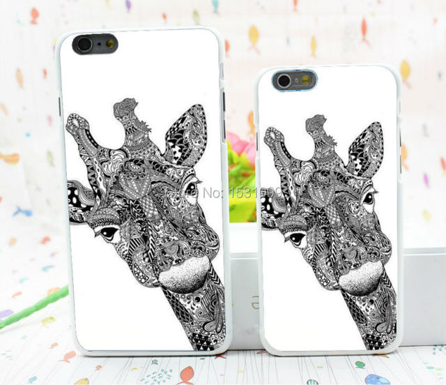 1pcs Lot Animals Drawing Tumblr Giraffe Hard White Case Cover For
