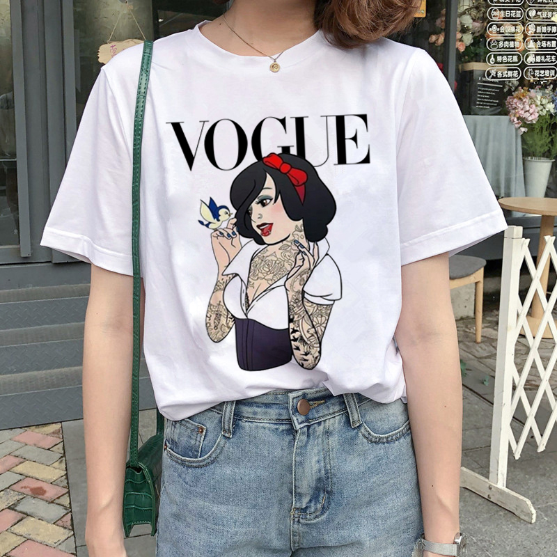 New Graphic Vogue T Shirt Women Fashion Harajuku Ullzang Cartoon T-shirt Funny Printed 90s Tshirt Korean Style Top Tees Female 9