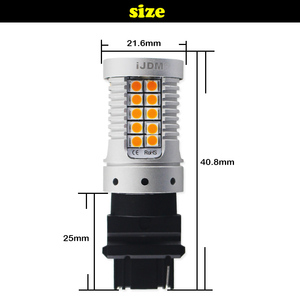 Image 2 - IJDM Hiçbir Hyper Flaş 3156 LED Canbus T25 PY27W PY27/7 W Araba LED ışık 3030 SMD Amber Beyaz Kırmızı otomatik fren lambaları Dönüş Sinyali Ampul