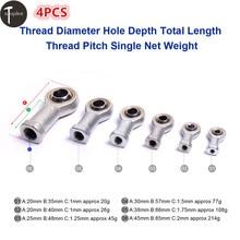 4PCS M5 M6 M8 M10 M12 M16 Female Bearing Fish Eye Rod End Joint Bearing Left Internal Thread Machinery Ball Bearing federal mogul 2130cp40 rod bearing