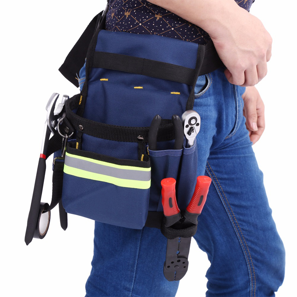 Electrician Waist Bag Tool Holder Convenient Work Organizer Pouch Belt Men Multi-pockets Tool Bag For Hand Tools Screwdrivers Tool Bags