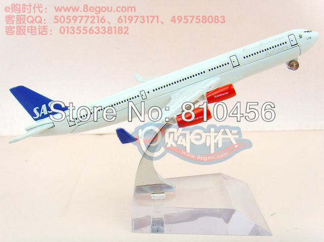 Free Shipping!!Sweden Scandinavian Airlines Systems,A340 16cm airplane model, 1:400 display plane model,aircraft model plane