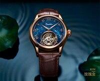 Лучший бренд класса люкс Звезда человек часы Механические тourbillon полые личности для мужчин наручные Нержавеющая сталь водонепроница