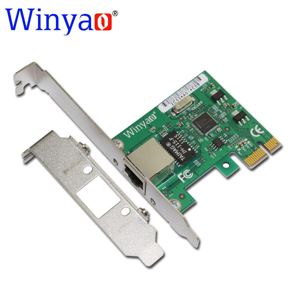 Winyao E574T pci-e X1 10/100/1000 m RJ45 tarjeta de red Gigabit Ethernet adaptador de servidor nic para 82574 EXPI9301CT/9301CT NIC
