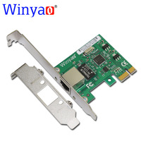 Winyao E574T PCI E X1 10 100 1000M RJ45 Gigabit Ethernet Network Card Server Adapter Nic