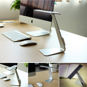 Image 3 - Ultrathin Mac Style LED Desk Lamp 3 Modes Touch Dimming Reading Table Lamp Soft Eye Protection USB Rechargeable LED Night Lights
