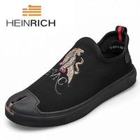 Генрих повседневная обувь Для мужчин модные Лоферы без застежки Мокасины Мужская обувь парусиновая обувь Для мужчин брендовая полотняная