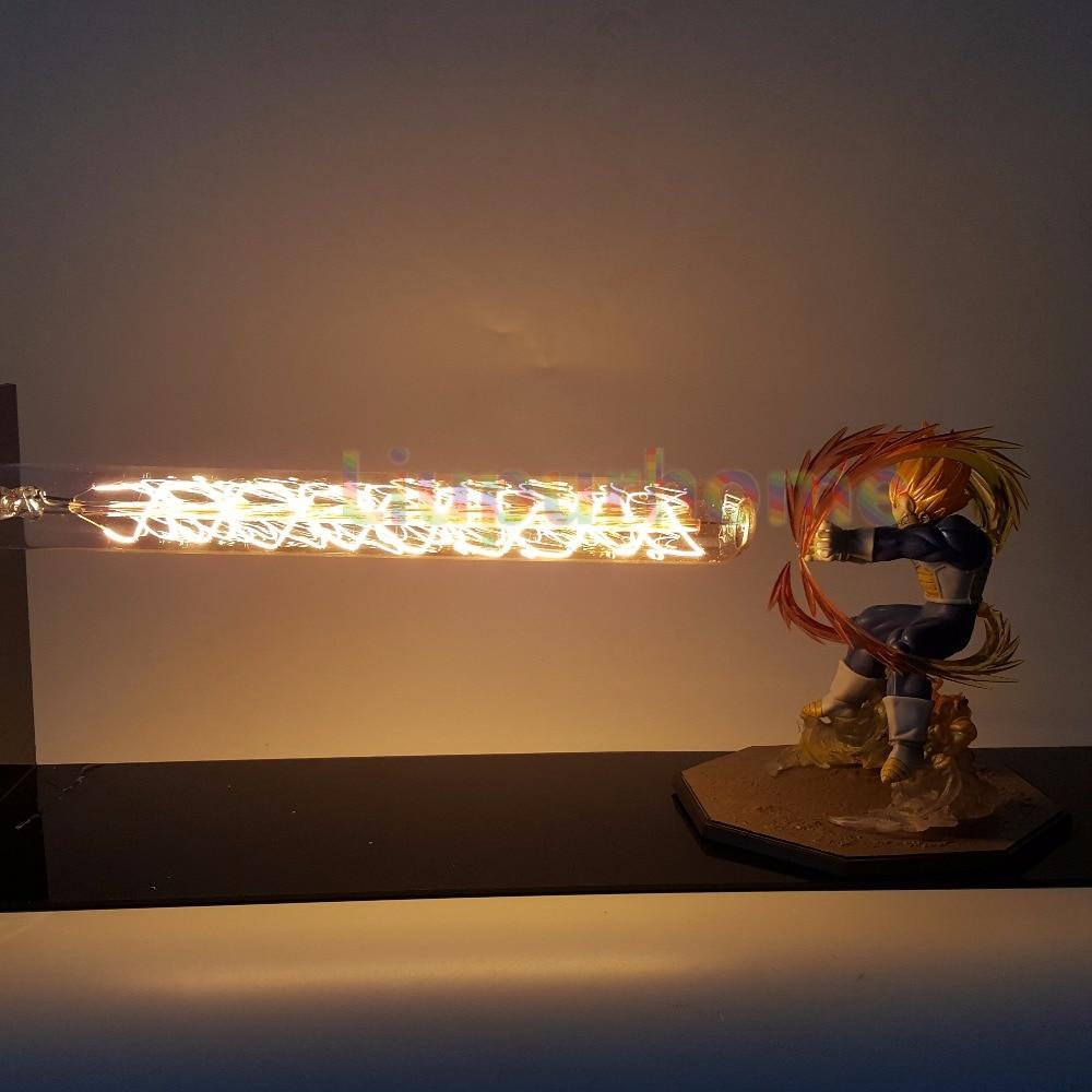 Dragon Ball Z Vegeta Led Light Lamp Cannon Dragon Ball Super Super Saiyan Led Table Desk Lamp Luces Navidad видеорегистратор erisson vr gf104