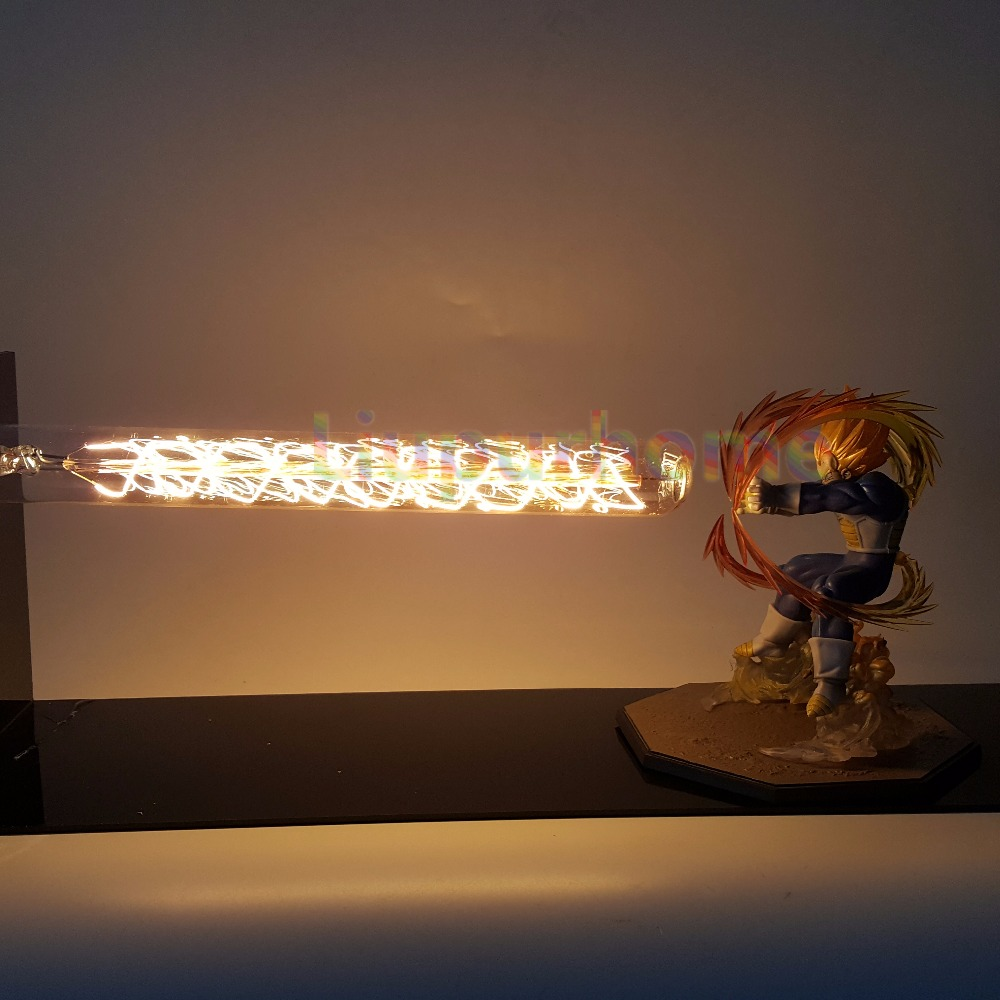 Dragon Ball Z Vegeta Led lámpara luz cañón Dragon Ball Super Saiyan estupendo llevó Mesa lámpara de escritorio Luces Navidad