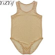 b620482169 YiZYiF Sleeveless Mesh High Cut Thong Bodysuit Wetlook See Through Leotard  Sex Lingerie Body stocking House