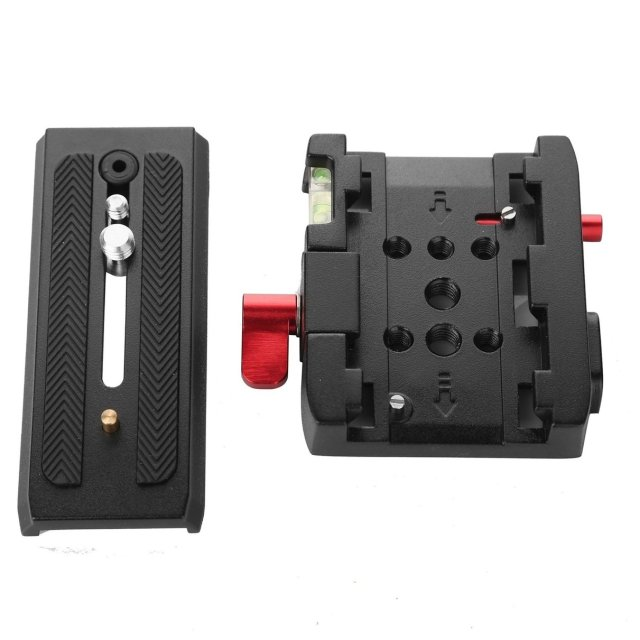 Camera Tripod P200 Quick Release Clamp Adapter + Quick Release Plate P200 Compatible for Manfrotto 501 500AH 701HDV 503HDV Q5