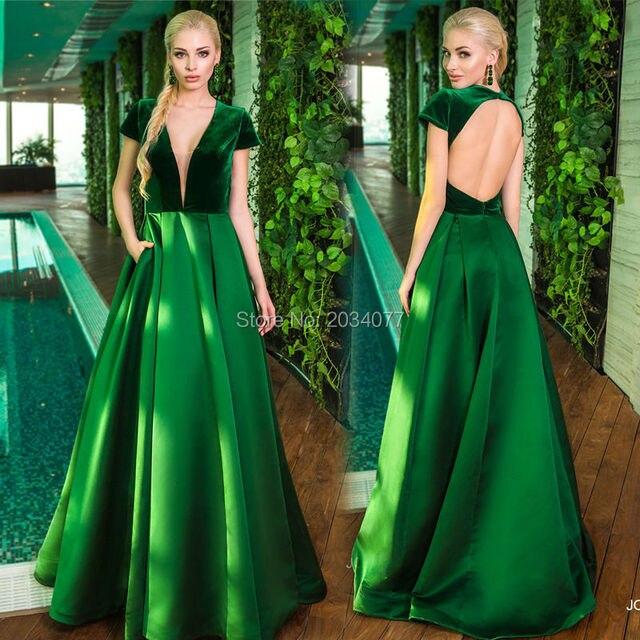 Vestidos verdes simples