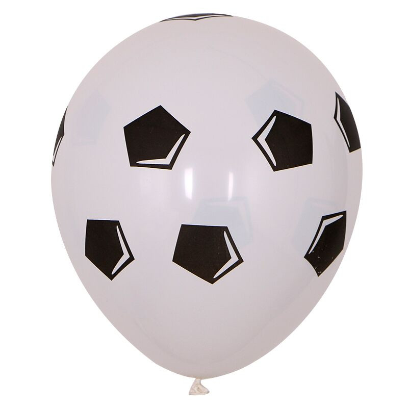 13pcs/lot 18 inch Round Football Foil Balloons Baby Birthday gym Party Soccer Helium Globos 10inch White Black Latex Decoration | Happy Baby Mama