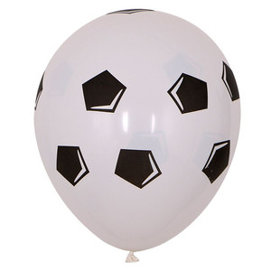 Image 3 - 13pcs/lot 18 inch Round Football Foil Balloons Baby Birthday gym Party Soccer Helium Globos 10inch White Black Latex Decoration