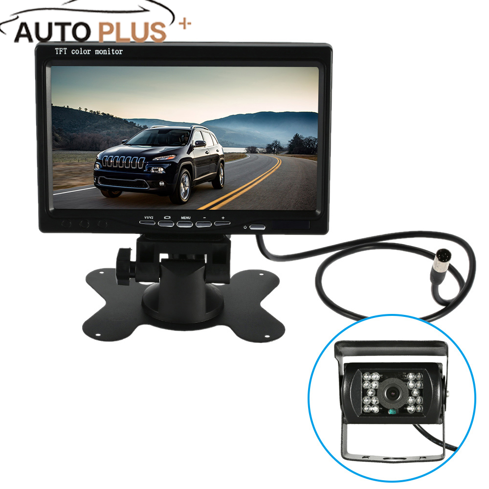 7'' Large TFT LCD Monitor Wireless Video Transmit Car Rear View Backup Reverse System for Bus Truck + LED Night Vision Camera 7 tft lcd color monitor car rearview camera monitor video reverse camera backup reverse monitor system free shipping