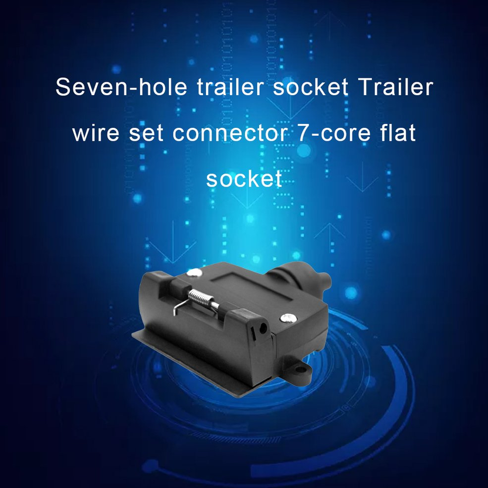 7 Pin Flat Female Trailer Light Plug Connector Socket Caravan Car Truck Adapter Electrical Plug & Socket-in Trailers & Trailer Couplings from Automobiles & Motorcycles