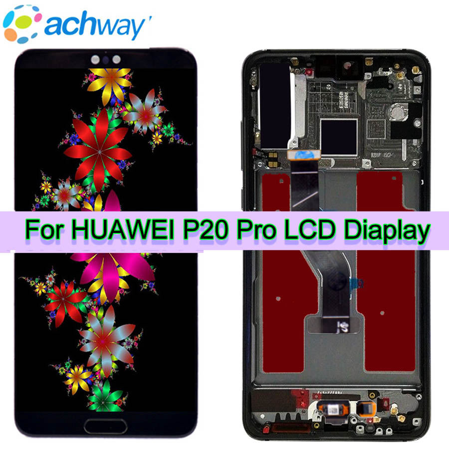 Test New Original 6 1 LCD Huawei P20 Pro LCD Display Screen Touch Panel Digitizer Assembly