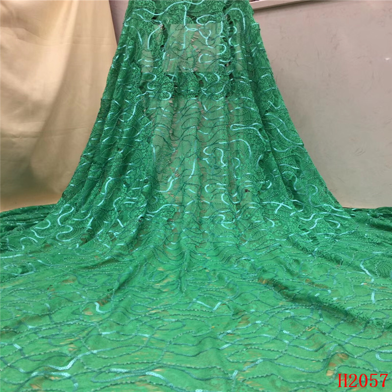 Rational Hfx African Lace Fabric 2019 High Quality Light Green Embroidered Sequin Tulle Net Lace Evening Dress French Lace Fabric X2057 Apparel Sewing & Fabric Arts,crafts & Sewing