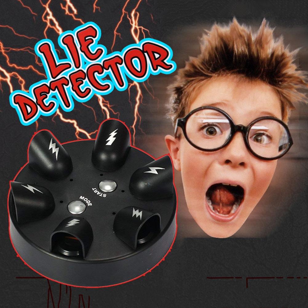 Impactante la ruleta Detector de mentiras de la prueba del polígrafo dedo fiesta juguete juego de beber S7JN