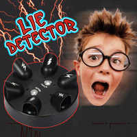 Prueba de polígrafo eléctrico del Detector de mentirillas de la ruleta impactante juego de beber del Partido de juguete S7JN