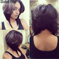 Short Haircuts For Women Short Wigs For Black/White Women African American Bob Wigs Heat Resistant Synthetic Wig Brown Wig
